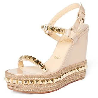Women's Christian Louboutin Cataclou Espadrille Wedge Sandal $795 thestylecure.com