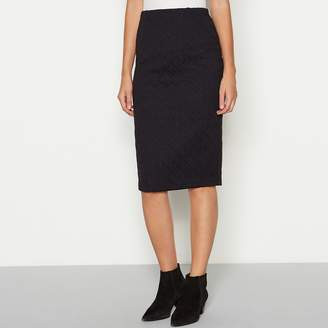 Black Diamond The Collection Textured Knee Length Ponte Skirt