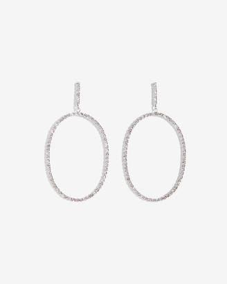 Express Oval Rhinestone Earrings