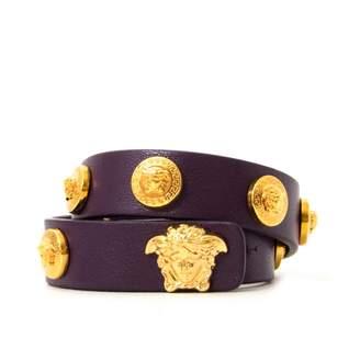 Versace Medusa Purple Leather Bracelets
