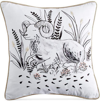 "Peri Home Aries Beaded Graphic-Print 14"" Square Decorative Pillow"