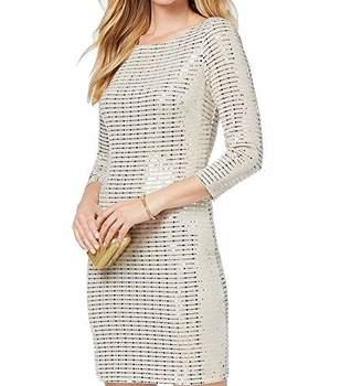 Jessica Howard Women's Glitter Shift Dress