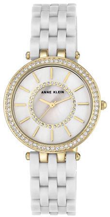 Anne KleinAnne Klein Swarovski Crystal Embellished Round Watch