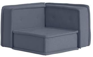 Pottery Barn Teen Cushy Lounge Corner Chair, Storm Blue Enzyme Washed Canvas