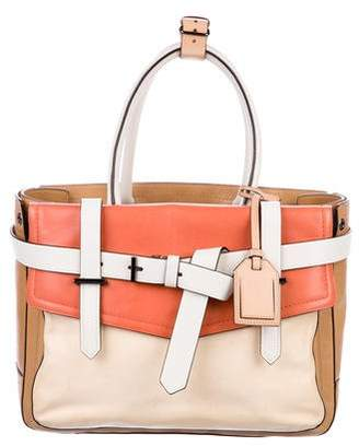 Reed Krakoff Leather Colorblock Boxer Bag