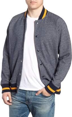 J.Crew Tweed Fleece Varsity Jacket