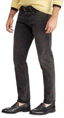 Polo Ralph Lauren Sullivan Slim Embroidered Jeans