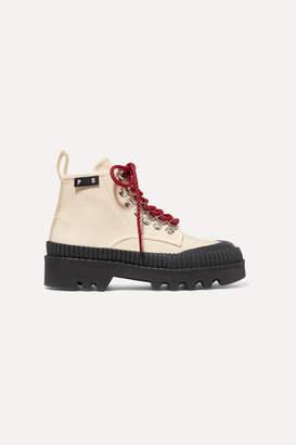 Proenza Schouler Cotton-canvas Ankle Boots - White