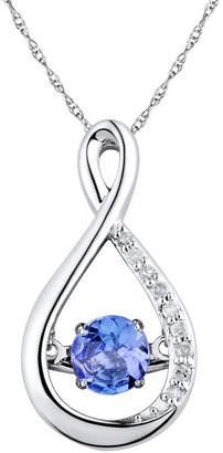 JCPenney FINE JEWELRY Love in Motion Diamond-Accent Purple Tanzanite Sterling Silver Pendant Necklace