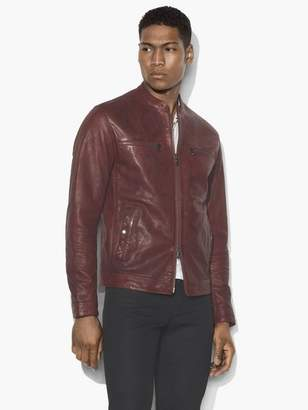 John Varvatos Modern Racer Leather Jacket