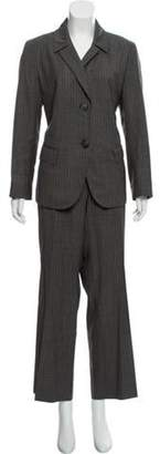 Lafayette 148 Pinstripe Structured Suit Grey 148 Pinstripe Structured Suit