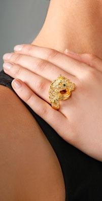 Kenneth Jay Lane Zebra Ring