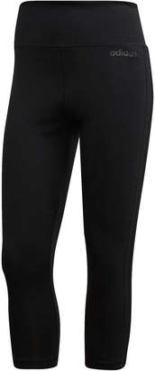 adidas Womens Designed to Move Climalite 3 Stripes 3/4 Tights