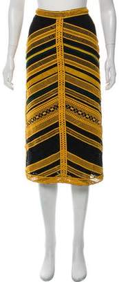 Costarellos Abstract Patterned Midi Skirt w/ Tags