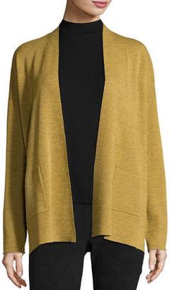 Eileen Fisher Fine Merino Wool Straight Cardigan $248 thestylecure.com