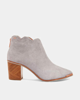 761ee4c8e98 Ted Baker JOANIEE Scallop detail suede ankle boots