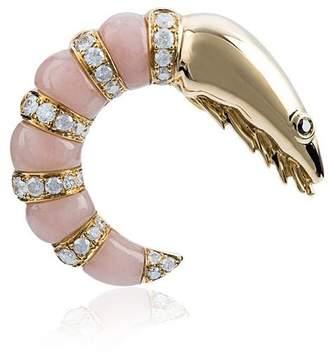 Leon Yvonne Gold diamond shrimp earring