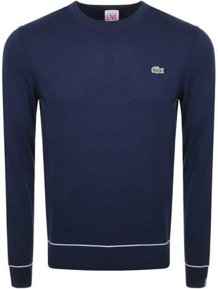 Lacoste Live Crew Neck Knit Jumper Navy