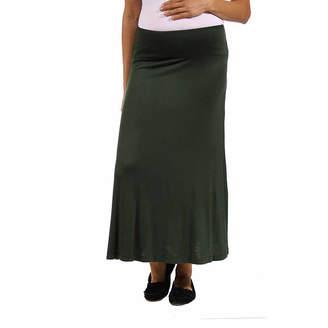 24/7 Comfort Apparel Maxi Skirt-Maternity
