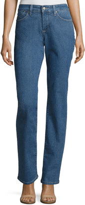 NYDJ Marilyn Straight-Leg Denim Jeans, Blue $75 thestylecure.com