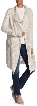 Solutions Waterfall Drape Collar Long Sleeve Cardigan