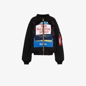 Vetements logo patchwork bomber jacket