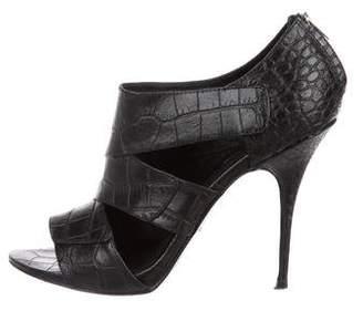 Elizabeth and James Leather Embossed Sandals