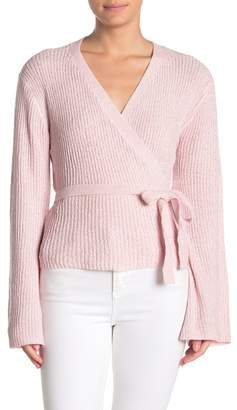 Cupcakes And Cashmere Imelda Wrap Chenille Sweater
