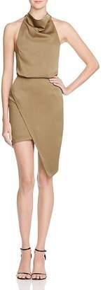 Elliatt Camo Blouson Halter Dress $144 thestylecure.com