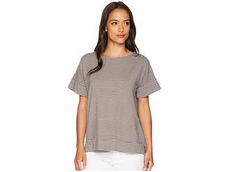Fresh Produce Pinstripe Riley Top Women's Short Sleeve Pullover