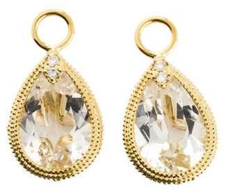 Jude Frances 18K Topaz & Diamond Earring Charms