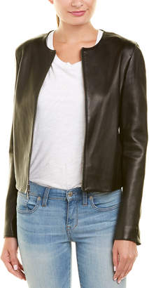 Vince Silk-Lined Leather Jacket