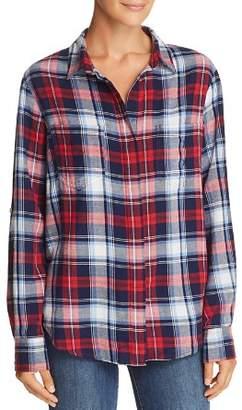 Aqua Split-Back Plaid Shirt - 100% Exclusive