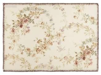 D'Ascoli Set Of Four Garden Linen Blend Placemats - Brown Multi