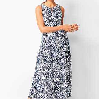 Talbots Knit Jersey Maxi Dress - Paisley