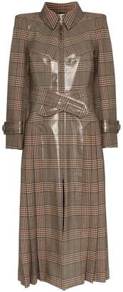 Fendi check PVC coated trench coat