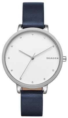 Skagen Women's Quartz Leather Strap Watch, 34mm