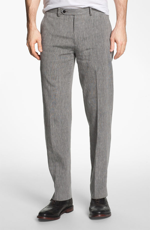 John Varvatos Red Label 'Petro' Flat Front Trousers