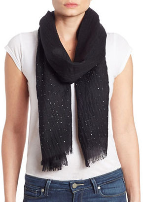 Lord & Taylor Wool Embellished Scarf $78 thestylecure.com