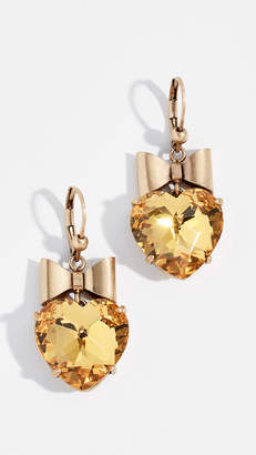 Tory Burch Heart And Bow Earrings