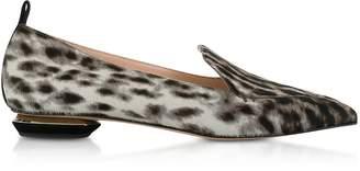 Nicholas Kirkwood Leopard Print Beya Loafers