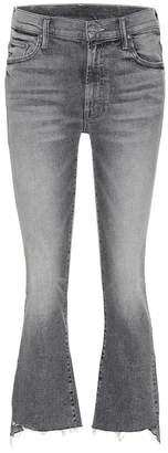 Mother Insider Crop Step Fray flared jeans
