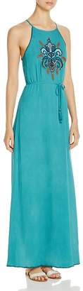 JACHS Girlfriend Embroidered Maxi Dress $118 thestylecure.com