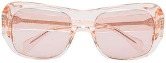 Celine pink rectangular sunglasses