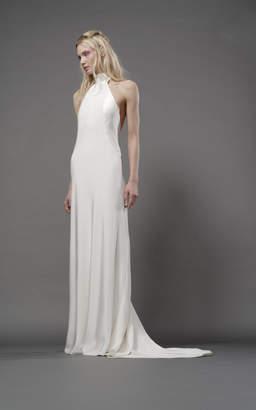 Elizabeth Fillmore Stella Silk Halter Gown