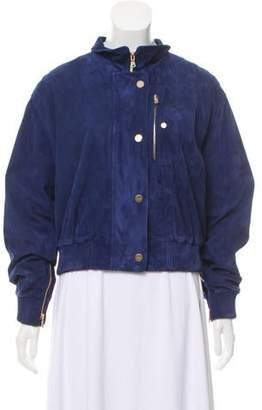 Tod's Suede Zip Front Jacket