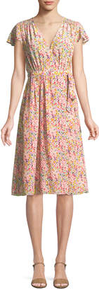 Rebecca Taylor Margo Floral-Print Silk Wrap Dress