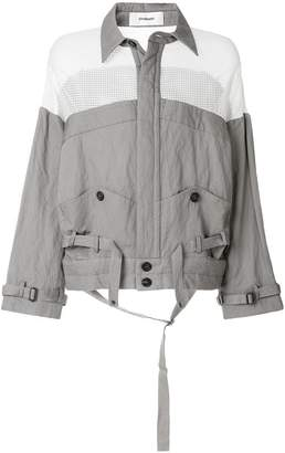 Chalayan mesh panel lightweight jacket