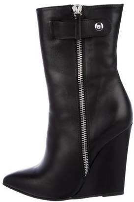 Giuseppe Zanotti Leather Wedge Boots