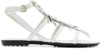 Tod's fringed multi-strap sandals
